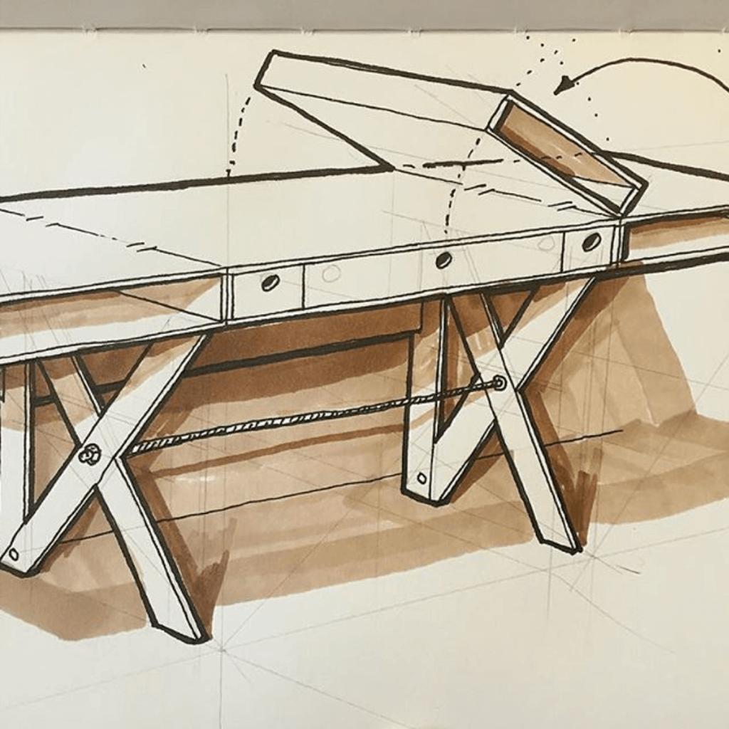 fold up shop desk