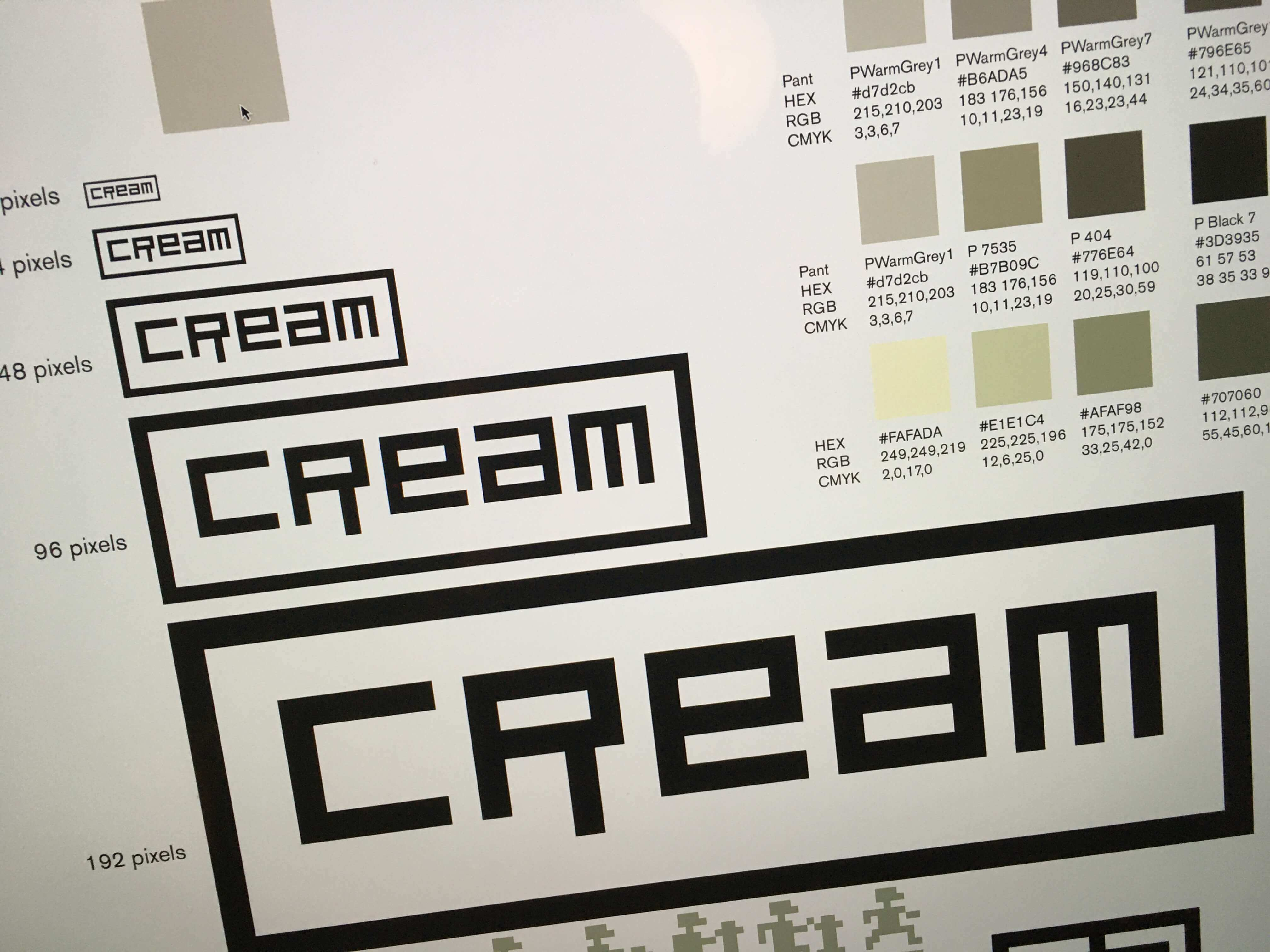 Cream logo construction
