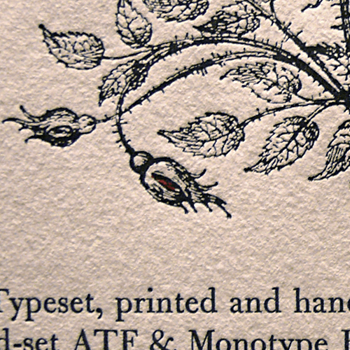 Letterpress close up