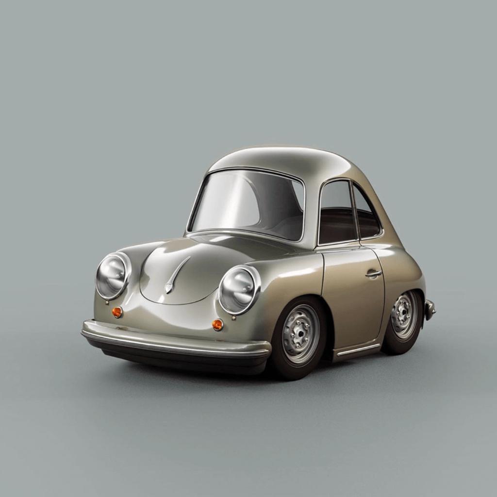 3D Porsche 356